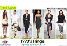 1990ss Fringe FashionTrend for Spring Summer 2014. #fashion #trends #spring2014 #fringe