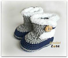 Fuzzy Booties by Crochet Zone