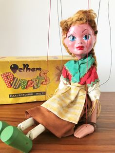 Meet Gretel - a delightful and charming vintage Pelham string puppet from the 1960s complete with her original box