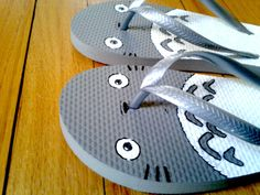Hey, I found this really awesome Etsy listing at https://www.etsy.com/listing/167148829/anime-flip-flops-totoro-grey-8