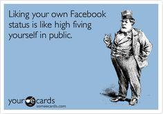 Likewise, it's like giving your reflection a high-five. Really, people?