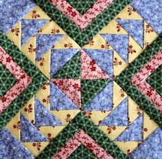 """Goose in the Pond Variation"" paper-pieced block tutorial (from 1880s Sampler Quilt)"