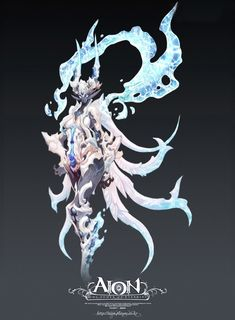Magma and Tempest Spirit - The Art of Aion Online