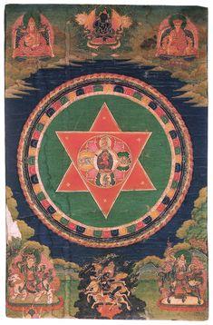 Tibetan Buddhist Thangka of Vajravarahi Mandala, century, Tibet Mandala Art, Mandala Painting, Tibetan Art, Tibetan Buddhism, Tibetan Mandala, Buddhist Meditation, Buddhist Art, Tantra, What Is A Mandala