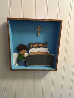 Shadow Box of a little boy praying