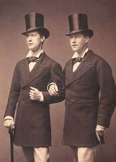 Two chaps in top hats