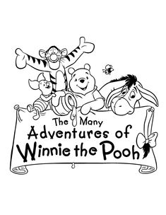 pooh and friends on pinterest winnie the pooh coloring pages ... - Pooh Bear Coloring Pages Birthday
