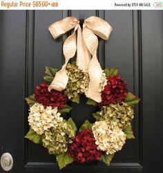 WREATH SALE Black Friday WREATH, Wreaths, Hydrangea Wreath, Holiday Wreaths, Etsy Wreaths, Christmas Wreath for Door, Door Wreaths, Winter W