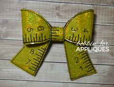 Measuring Tape Cheer Bow BIG BOW project ITH
