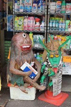 Yokai Street - This neighborhood thoroughfare is haunted by dozens of homemade monsters