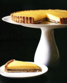 Meyer Lemon tart w/ Chocolate on Pate Sucree - from Sunday Suppers at Lucques