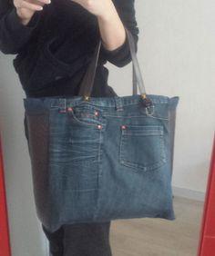 sac en jean fait main