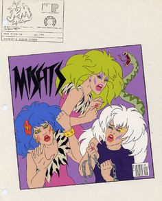 Jem and the Holograms - Misfits album Cover
