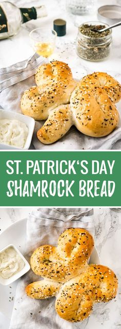 This Shamrock Bread is so easy to make and super delicious! A perfect snack for your St. Patrick's Day party that goes perfectly with a pint of Guinness.