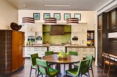 Michael Berman - Breakfast room & kitchen - masculine and retro <3