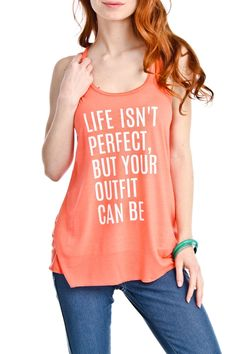 Life isn't always perfect....but your outfit can be!!  Super soft and casual graphic print design by Katydid  65% Poly, 35% Cotton  Fits true to size  Free shipping     Shop this product here: spree.to/72e   Shop all of our products at http://spreesy.com/aleiasaka_loves      Pinterest selling powered by Spreesy.com