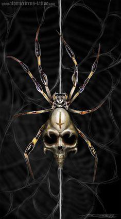 Death spider by *AtomiccircuS on deviantART