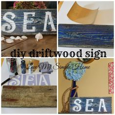 How to Make a Sign Using Driftwood - via Love My Simple Home