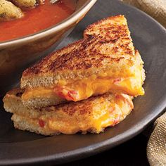 Grilled Pimento Cheese Sandwiches. My Dad got me hooked on these when I was a teen. Use your favortite Pimento Cheese, and bread of choice, (Sourdough is devine!) add a big slice of fresh beefsteak tomato, and cook like you would any grilled cheese....then enjoy this twist on a Southern Classic!