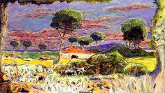 bofransson:  Landscape of Southern France Pierre Bonnard - 1939