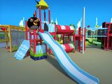 Angry Birds themed playground