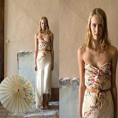 vestido hecho con un manton de manila - Buscar con Google