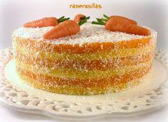 Ha sido el aniversario de boda de mis padres, como regalos no nos hacemos, en todo caso…que se regalen algo... Leer más » Sweet Cakes, Carrot Cake, Vanilla Cake, Carrots, Nom Nom, Cheesecake, Food And Drink, Gluten Free, Healthy Recipes