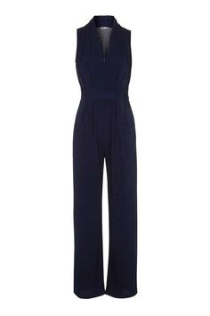 **Wide Leg Jumpsuit with Zip by Wal G