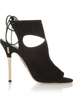 Sexy Thing cutout suede sandals #shoes #covetme #aquazzura