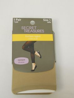 Women Footless Tights PLUS SIZE 1 Solid Chino SECRET TREASURES Opaque ST5OX #SECRETTREASURES #Footless