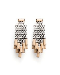 Rock Crystal Rain Earrings ~
