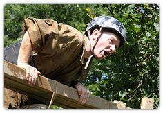 Assault Course.  This is a real test for anyone and everyone!  But great hen party fun.