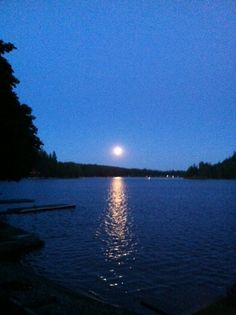 Full moon over Lower Twin Lake - Idaho