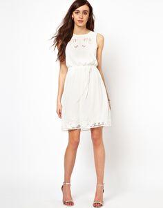 Warehouse Cutwork Top & Hem Dress - $101.82