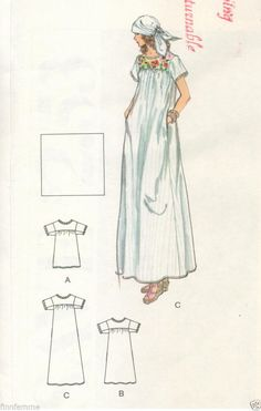 Vintage VOGUE Boho MEXICAN Maxi DRESS Top Sewing Pattern S EMBROIDERY Transfer