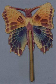 Butterfly Spanish hand fan, 1920-40