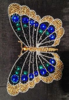 Fabulous seed beads butterfly. Craft ideas from LC.Pandahall.com