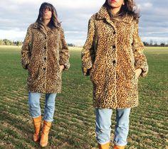 Vintage 1980's Faux Leopard Glam Shawl by GimmeShelterVintage