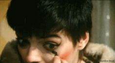 """uncontrol-freak: """" Nina shows us how to put a war paint on (1978) """""""