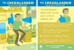 The Cheerleader: a Workology Personality Type. Find out more: http://www.mindjet.com/workology