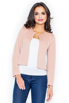 Another great find on Pink Open Jacket Brooks Running Shoes, Casual Look, Quilted Jacket, Coco Chanel, Fashion Addict, Fashion Boutique, T Shirts, Outfit Of The Day, Street Wear