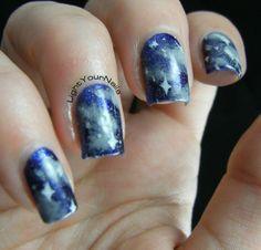 comets nail art