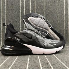 d030852bf009e2 Top Quality Nike Air Max 270 Retro Grey Black-White Men s Skateboarding  shoes Casual