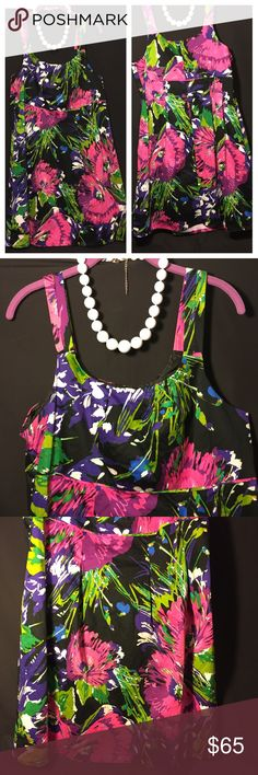 Lane Bryant Floral Flower Sleeveless Flare Dress Lane Bryant Floral Flower Flare Dress  Sleeveless  Colors: Pink Purple Green  Plus Size: 18  Thank you so much for stopping by! I hope you find some goodies! ⭐️MurphysUniverse⭐️ Lane Bryant Dresses Midi