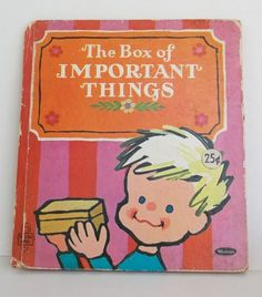 Whitman Tell a Tale BOOK 1968 Losing 2 Front Teeth Box of Important Things