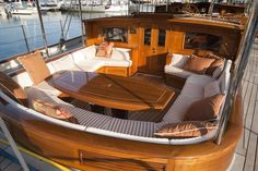 ATHOS Holland Jachtbouw, luxury sailing yacht, 62 mt, 10 guests in 5 cabins, crew of available for charter in Mediterranean. Luxury sailing yacht for charter Luxury Yacht Interior, Boat Interior, Luxury Sailing Yachts, Ski Nautique, Small Yachts, Sailboat Living, Classic Yachts, Boat Design, Yacht Design