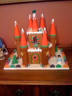 Free Gingerbread Castle Template Gingerbread Creations Pinterest