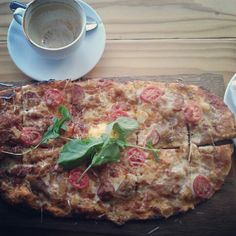 Yummy pizzas from Knead, Kloof Street Baker Board, Vegetable Pizza, Quiche, Bakery, Salad, Chicken, Vegetables, Street, Breakfast
