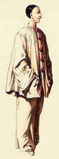 Pierrot, è furbo, ma sentimentale, è l'unico personaggio che a un piatto di minestra, preferisce una romantica serenata, eseguita sulla mandola, sotto le finestre della sua bella. Forse anche per questa ragione é pallido e languido e, spesso una lacrima gli scende sul viso.