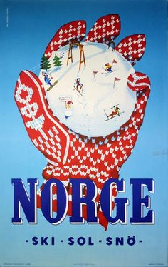 Norway 1956 Fistful Of Fun Vintage Poster Print Retro Style Travel Winter Sports Vintage Ski Posters, Retro Poster, Print Poster, Poster Wall, Ski Europe, Travel Ads, Fun Travel, Travel Photos, Travel Tourism